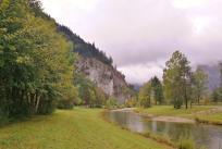 Massive Gesteinsabbrüche südlich von Oberammergau