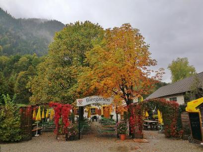 Der Biergarten an der Ettaler Mühle