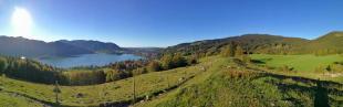 Panoramabild vom Aufstieg zum Hirschgrohrkopf