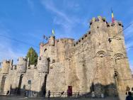 Gravensteen, die Burg der Grafen von Flandern, Seitenansicht