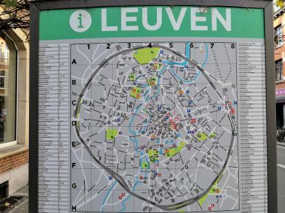 Kreisrund war das alte Leuven mit seiner umlaufenden Stadtmauer