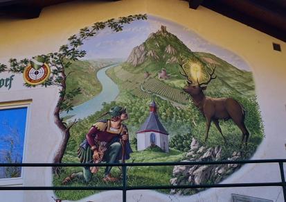 Gemälde am Schützenhaus der Hubertusschützen in Rhöndorf