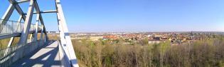 Panoramablick in Richtung Bitterfeld