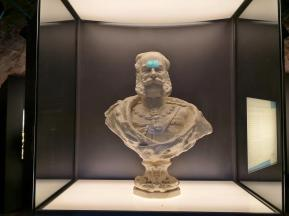 Büste von Kaiser Wilhelm I. in der Ausstellung im Fuß des Turms