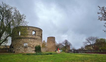 Festungsreste auf dem Petersberg
