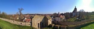 Panoramabild mit Blick über das Nordostrondell zur Altstadt von Querfurt