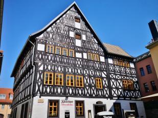 Eines von wenigen erhaltenen Fachwerkgebäuden in der Innenstadt
