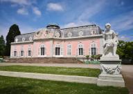 Hauptgebäude von Schloss Benrath, Parkansicht