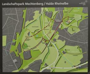 Wir erreichen den Landschaftspark Mechtenberg