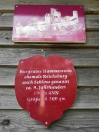 Wir nähern uns der Burgruine Hammerstein