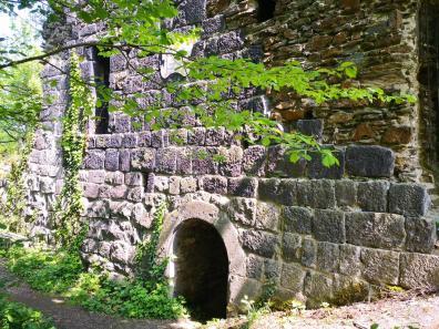 Reste der Burgmauern