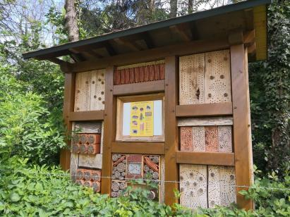 Ein neu angelegtes Insektenhotel