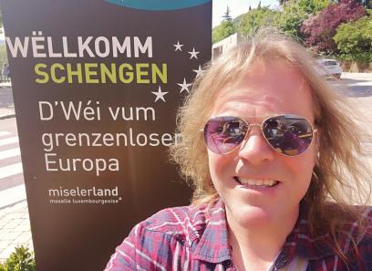 Ich freue mich, in Schengen zu sein