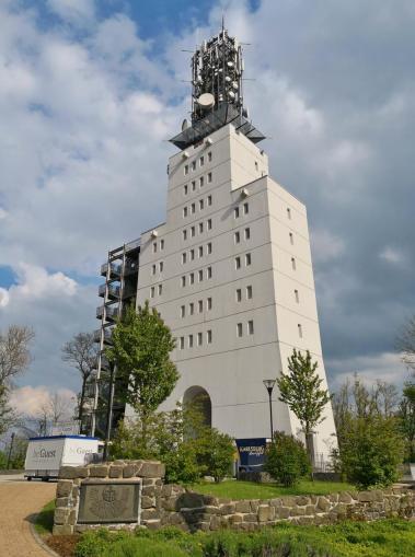 Der knapp 40 Meter hohe Schaumbergturm