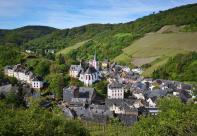 Blick auf die Altstadt von Trarbach