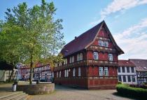 Blick auf die Lateinschule vom ehemaligen Pfarrhaus