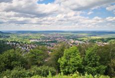 Blick vom Burgberg hinunter nach Bad Harzburg
