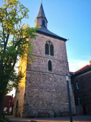 Der Glockenturm der ehemaligen Martinikirche