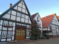 Typische Lippische Bauernhäuser in der Altstadt von Blomberg