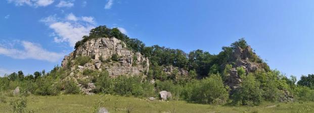 Panoramabild vom Steinbruch