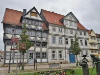 Häuser am ehemaligen Holzmarkt neben der St. Trinitais Kirche