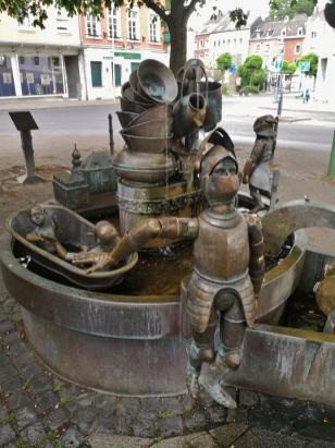 Der Galminus-Brunnen am (neuen) Markt