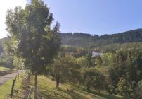 Blick hinauf zur Kapelle Mariazell