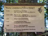 Infotafel an der Lenzenburg