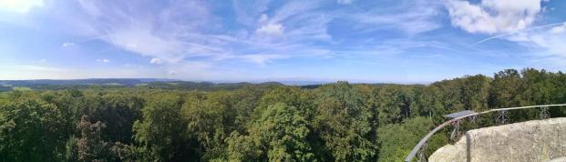 Panoramablick von der Hohen Warte in Richtung Süden und Westen
