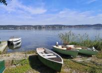 Boote am Seeufer in Mittelzell