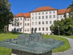 Modell des Klosters vor dem heutigen Schwäbischen Bildungszentrum