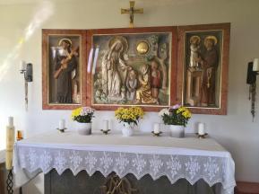 Blick ins Innere der kleinen Kapelle