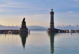 Hafenausfahrt in Lindau