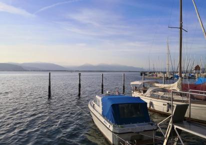 Blick über den Bodensee hinüber nach Bregenz