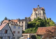 Seitlicher Blick auf aus Schloss