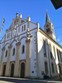 Evangelische Stadtkirche St. Peter und Paul mit Jugendstilfassade vom Anfang des 20. Jahrhunderts