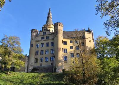 Blick von Norden auf das Schloss
