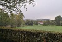 Blick durch den Park zum Haus Morp