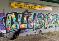 Graffiti unter der Kanalbrücke bei Hünxe