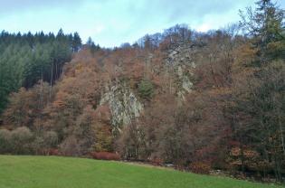 Felsen im Rurtal zwischen Widdau und Hammer