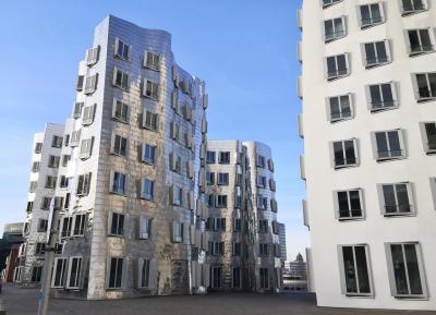 Die ikonischen Gehry-Bauten neben dem WDR-Funkhaus