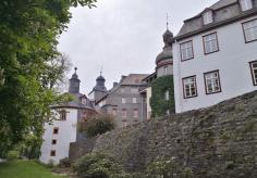 Blick zum Innenhof des Schlosses