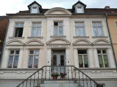 Fassade der ehemaligen Mecklenburgischen Wechsel- und Hypothekenbank