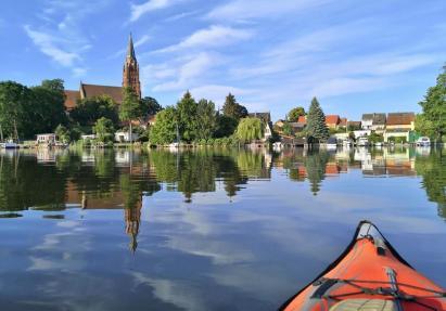 Mit dem Kayak kurz vor Röbel