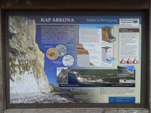 Infotafel zur Enstehung des Kap Arkona
