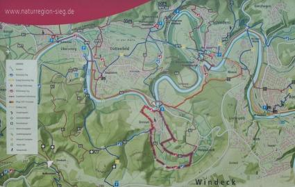 Infokarte an unserm Startpunkt in Dreisel
