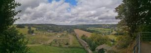Panoramabild vom Burgberg der Burg Blankenberg