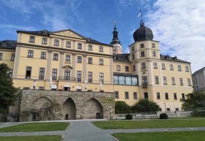 Blick vom Schlossgarten zum Unteren Schloss