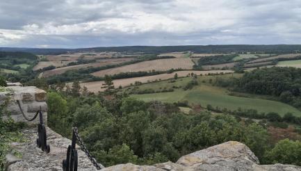 Blick von der Wachsenburg in Richtung Süden
