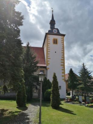 Nordseite der Kirche St. Lukas